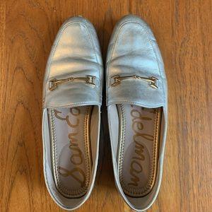 Sam Edelman Silver Loraine loafer. EUC, size 9
